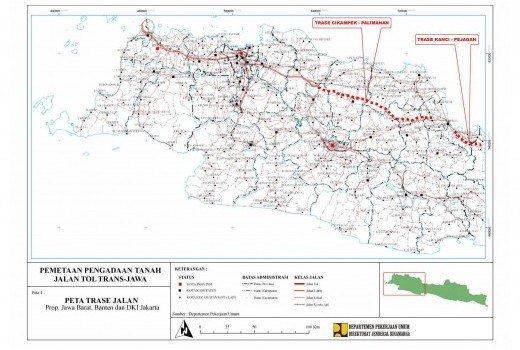 The Land Acquisition Mapping Project for Trans Java Toll Road  thumbnail